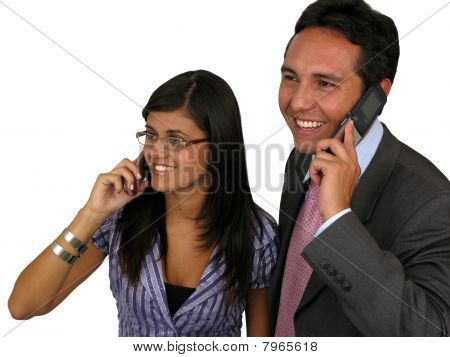 Two Business Persons Whit A Cell Phone