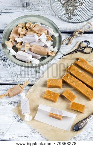 Sweet caramel toffee  caramels