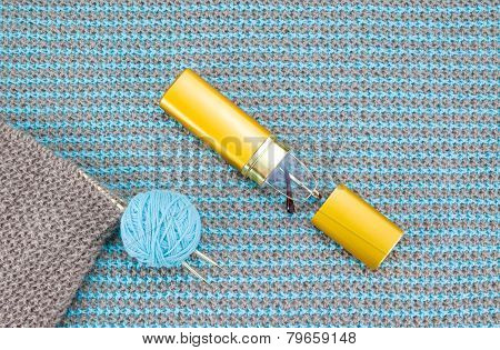 Knitwear And Knitting Needles