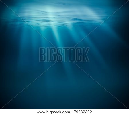 Sea deep or ocean underwater