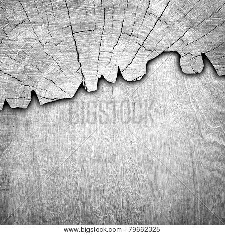 cracked wood board