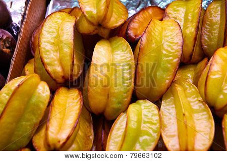Carambola Thai Exotic Fruit In The Form Of A Star