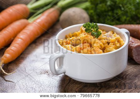 Portion Of Carrot Stew
