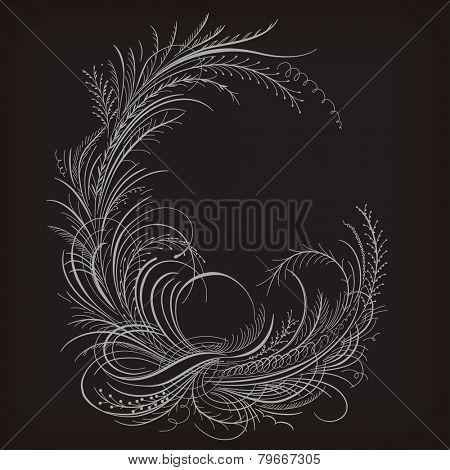 Decorative calligraphy border.