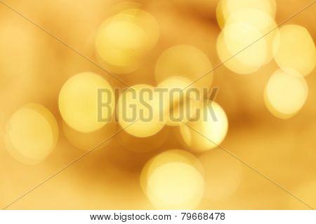 Golden bokeh background