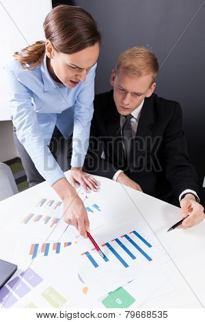 Employees Analyzing Company Data