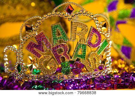 colorful Mardi Gras crown decoration