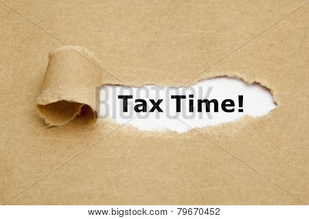 Tax Time Torn Paper