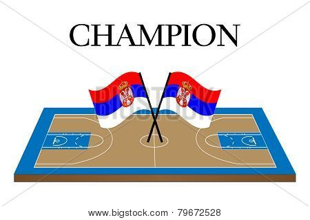 Basketball Champion Court Serbia