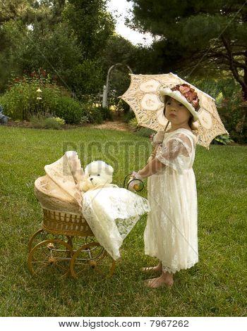 Old Fashion Girl Playing