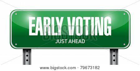 Early Voting Road Sign Illustration Design