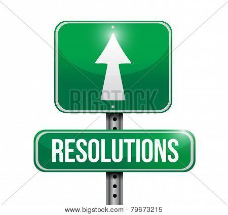 Resolutions Road Sign Illustration Design