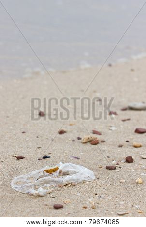 Garbage On The Beach.