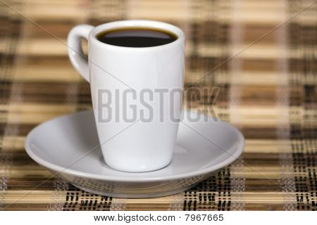 Coffee on a rolling mat