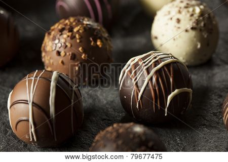 Fancy Dark Chocolate Truffles