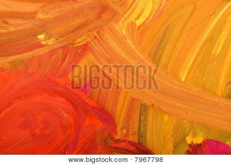 Pinta da cor de água de desenho infantil