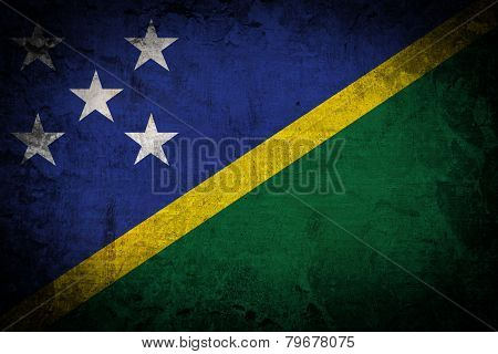 Grunge Solomon Islands Flag