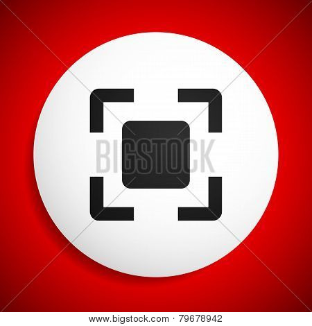 Abstract Cross-hair, Viewfinder On White Plate