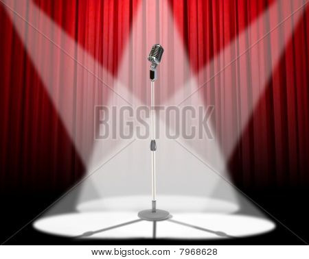 Mikrofon-spotlight