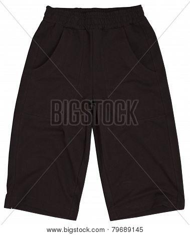 Male shorts isolated on white background.