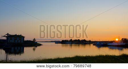 Sunset On White Sea