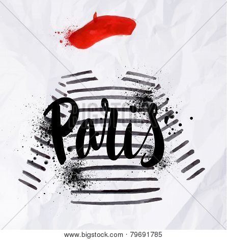 Paris poster striped sweater