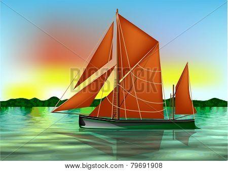 Barge Thames