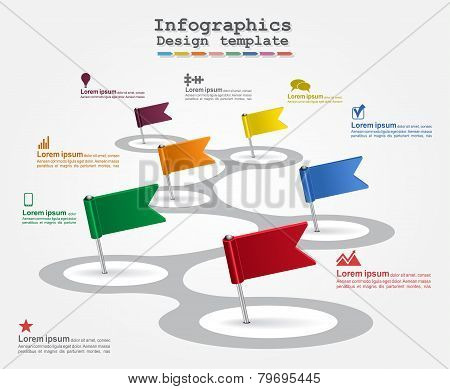 Infographics with elements and icons. Vector