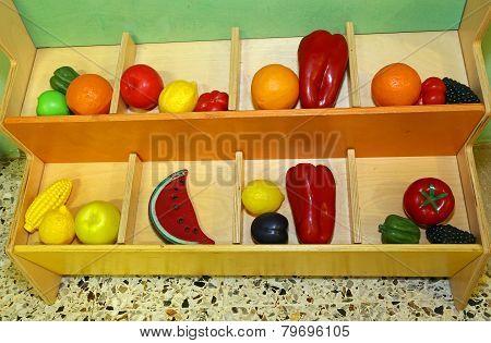 Plastic Fruit To Play In Preschool Children