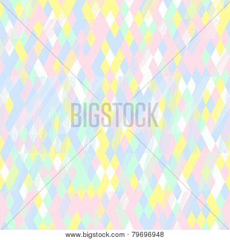 Seamless pattern for wallpaper, web page background, surface textures. Pixel rhomb.