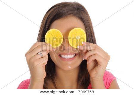 sorriso de fatia de laranja