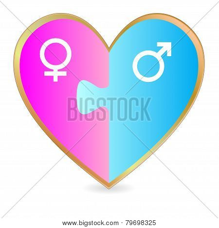 Gender heart puzzle
