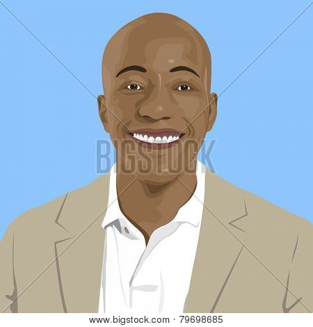 Portrait of Young African Descent Vector