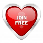 stock photo of joining  - join free valentine icon  - JPG