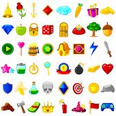pic of cannon-ball  - vector illustration of collection of game resource for user interface - JPG