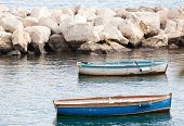 picture of sloop  - Old fishing boats in the Gulf of Naples - JPG