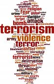 image of tyranny  - Terrorism word cloud concept - JPG
