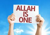 picture of bismillah  - Allah is One card with a beautiful day - JPG