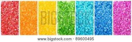 Set Of Color Sea Salt, Rainbow Banners