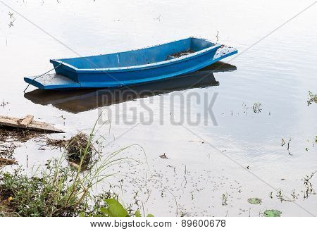 Old Plastic Rowboat