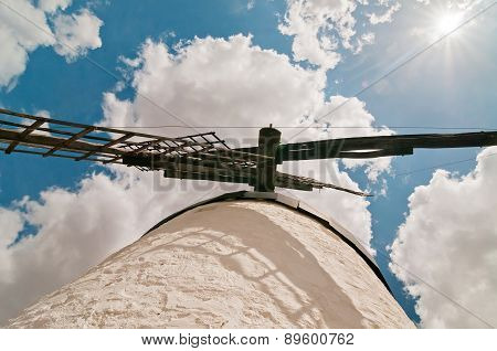 Forefront of the blades of a traditional windmill