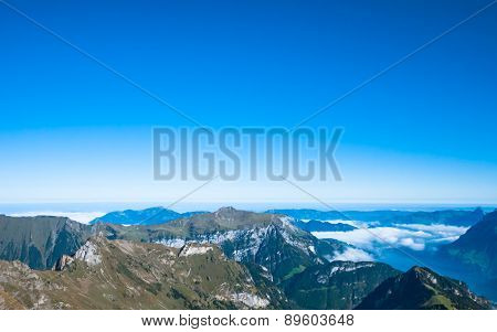 Lucerne Lake And The Swiss Alps