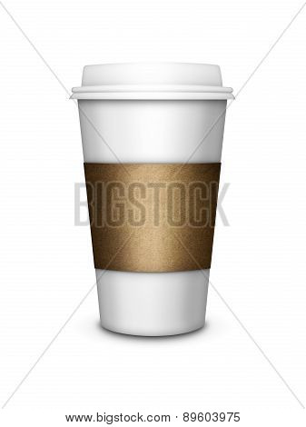 Coffee Cup Isolated Over White Background