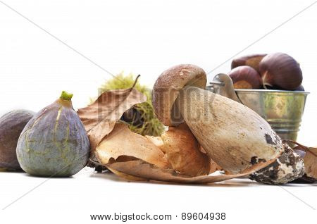 Autumnal Fruit And Porcini