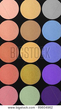 Colorful Eyeshadows Background