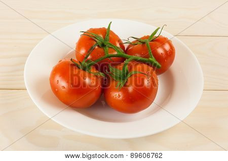 Tomatos In Plate