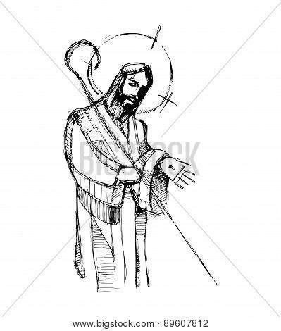 Jesus Good Shepherd H