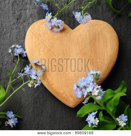 Heart And Forget-me-not
