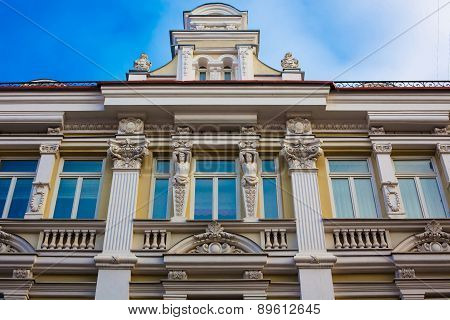 Classical Building In Vilnius