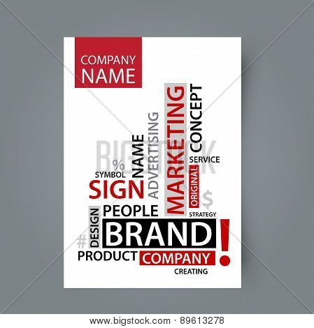 Blank template Word Cloud with branding tags